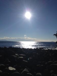 海辺を散歩したりもしました