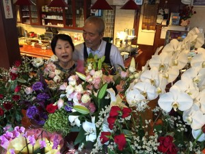 花に囲まれた両親は、なんかすごく幸せそうでした